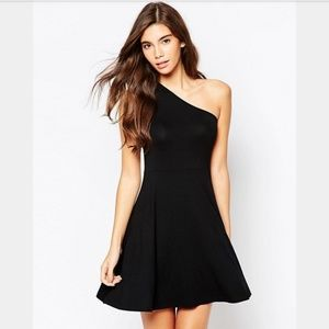 ASOS One Shoulder Skater Dress